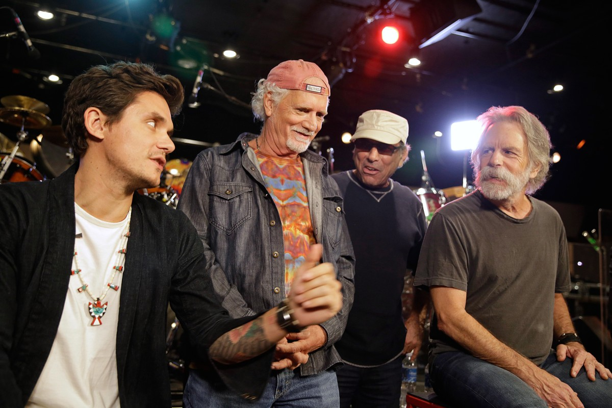 what a trip grateful dead team with john mayer amex on charity tour nbc news. Black Bedroom Furniture Sets. Home Design Ideas