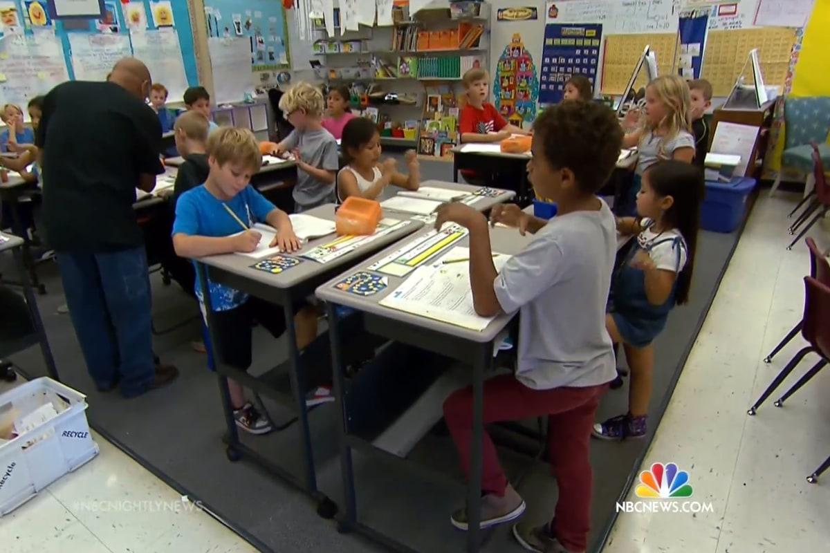 California School Children Step Up To Standing Desks Nbc