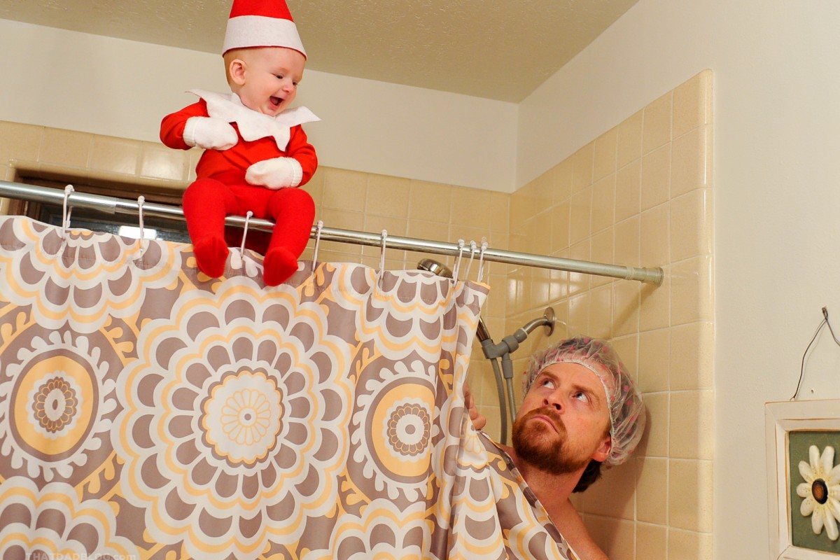 dad turns baby into real life elf on a shelf nbc news. Black Bedroom Furniture Sets. Home Design Ideas