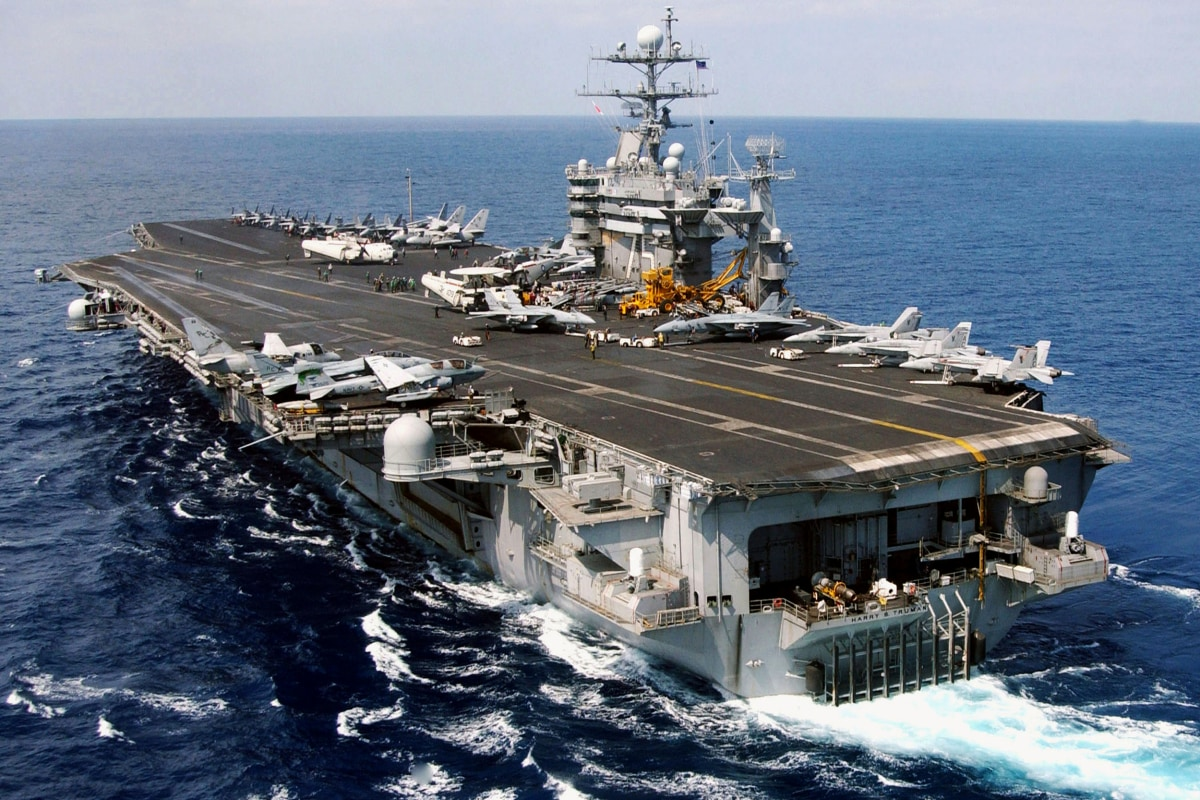 U.S. Carrier Harry S. Truman Has Close Call With Iranian Rockets