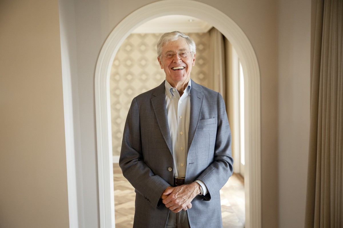 Charles koch explains to donors why he won 39 t support trump for David charles koch