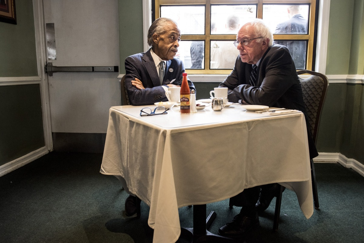 Image result for bernie sanders with al sharpton