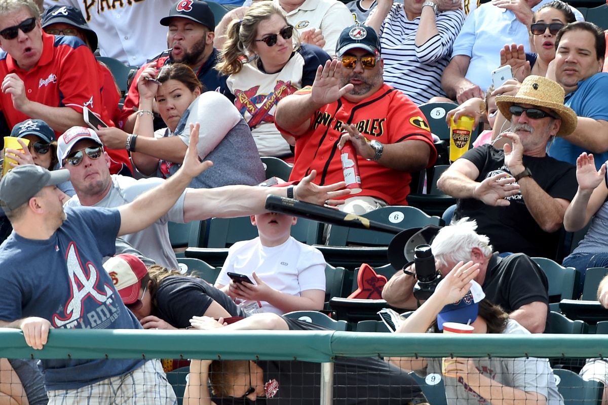 Image: Fan Saves Boy From Flying Baseball Bat