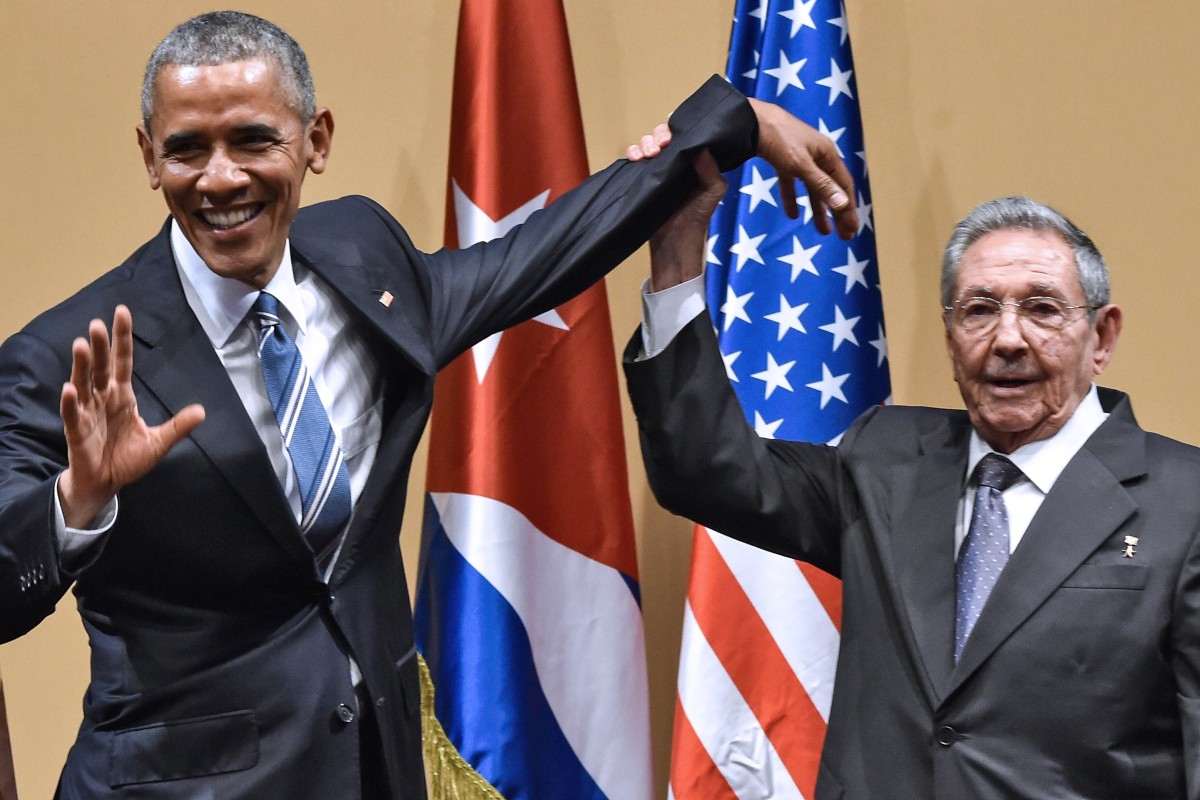 Image result for raul castro and barack obama images