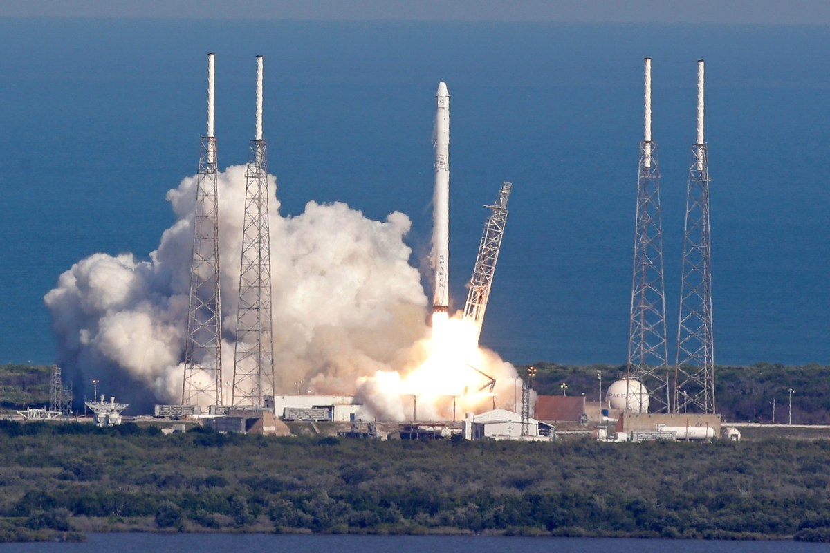 SpaceX Rocket Lands on Ocean Drone in Historic First
