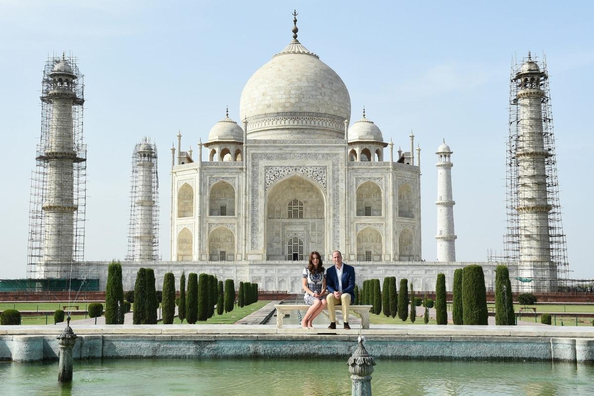 Image: Duke and Duchess of Cambridge visit Taj Mahal