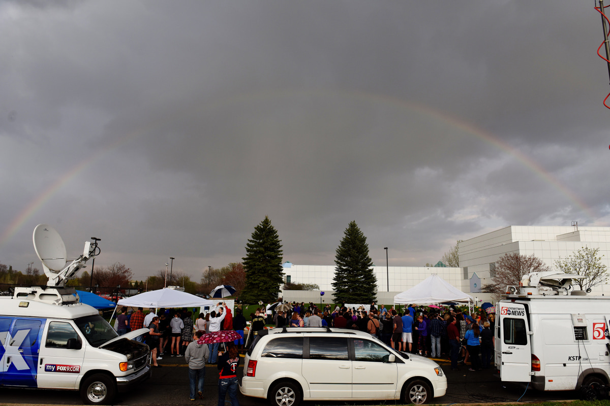 Image A Rainbow Emerges Over Paisley Park
