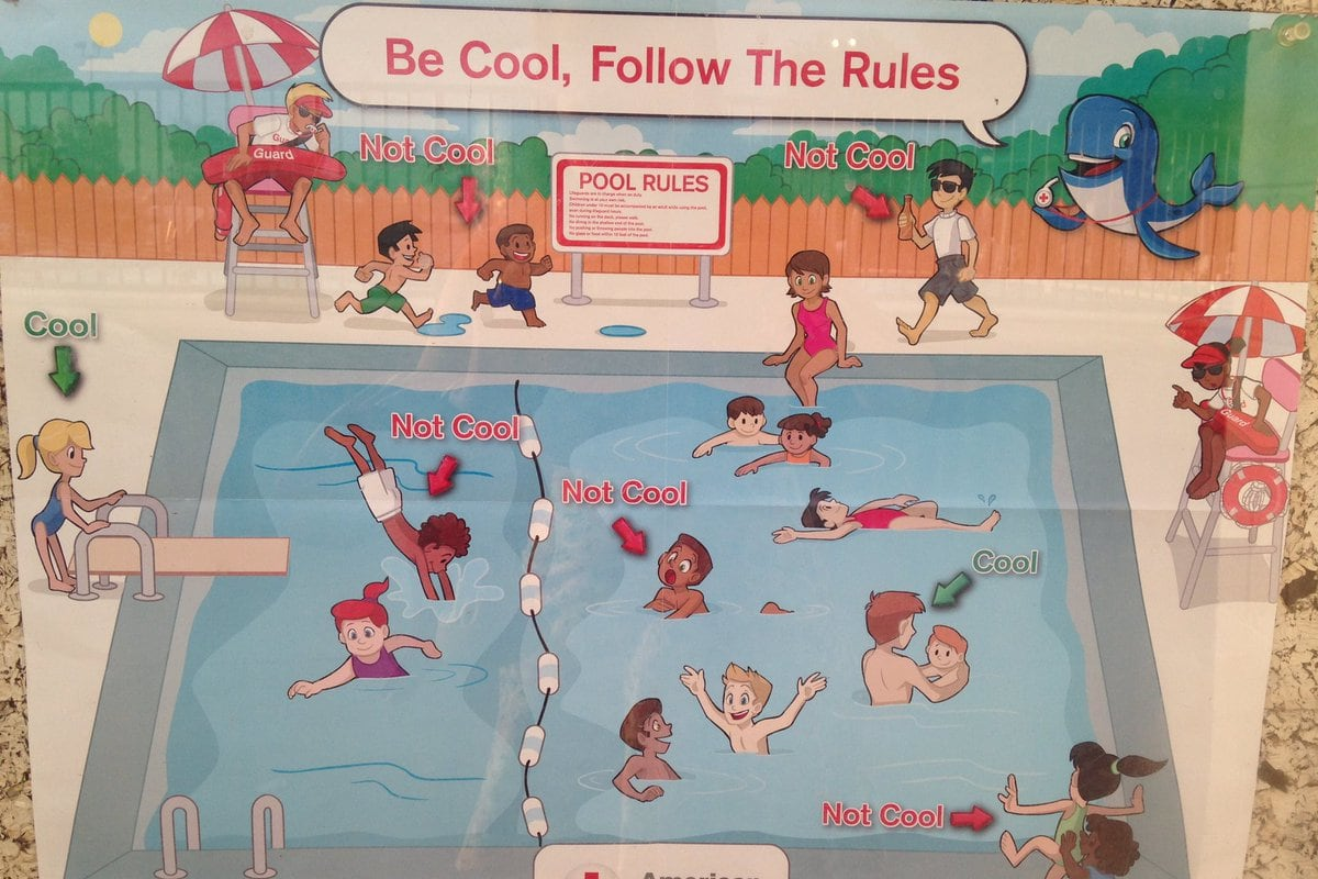 39 Racist 39 Pool Safety Poster Brings Red Cross Apology Nbc News