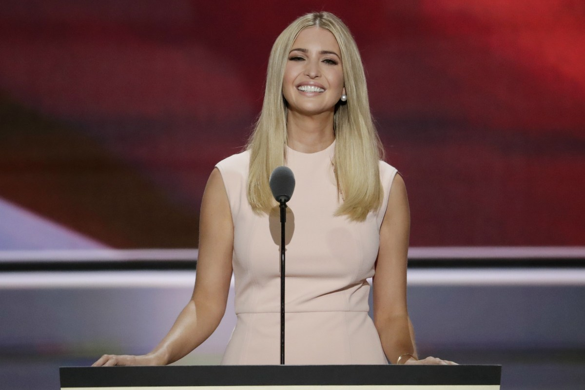 Ivanka Trump Makes a Pitch to Women Voters in Introducing Her Father ... Ivanka Trump