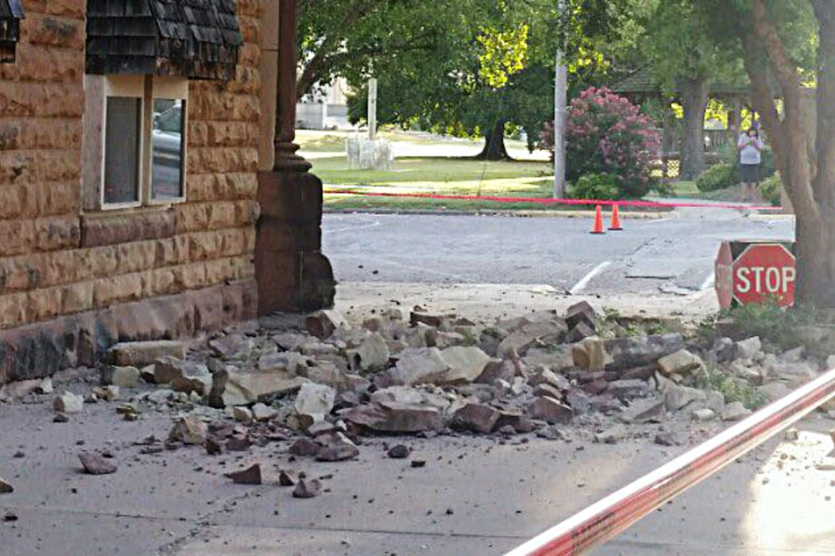 Strong oklahoma earthquake felt from nebraska to texas for Best place to be in an earthquake