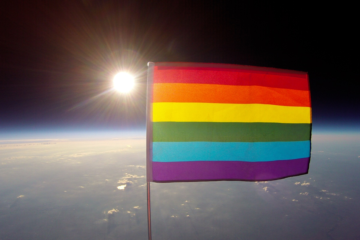 First Pride Flag Launched Into Stratosphere Nbc News