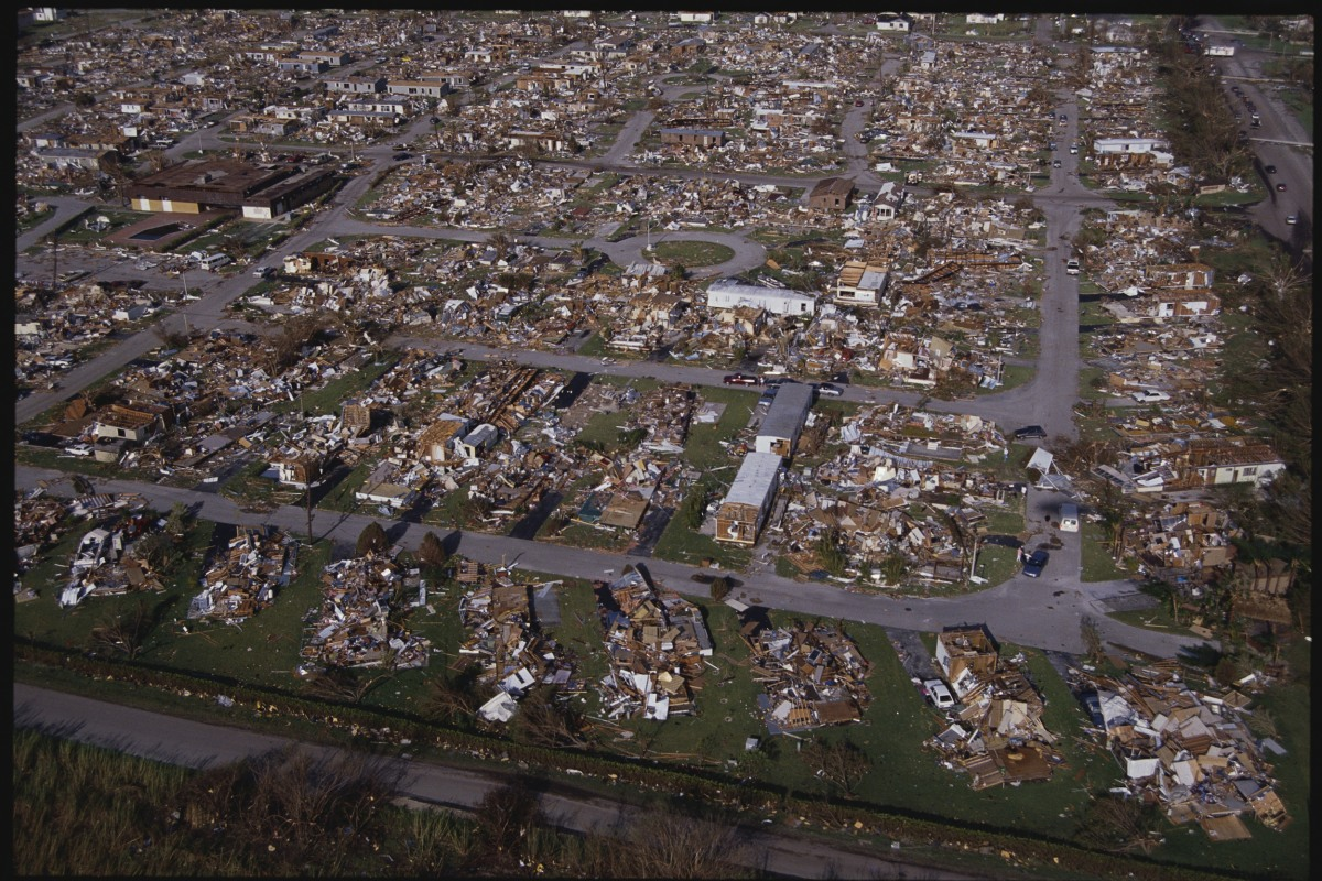 Aerial View of Hurricane Strewn Area