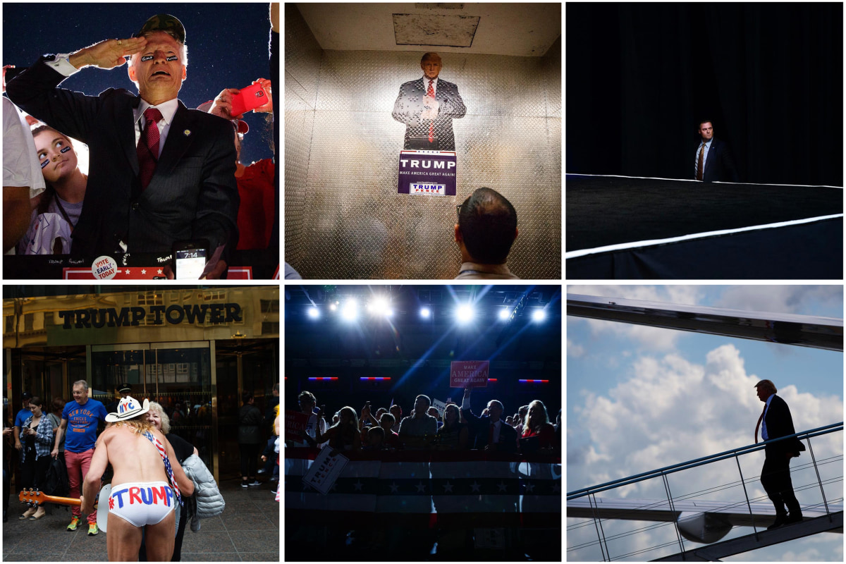 Image: Photographer Evan Vucci has been following Donald Trump's campaign for the Associated Press