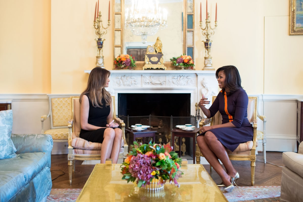 michelle obama meets with melania trump at white house nbc news