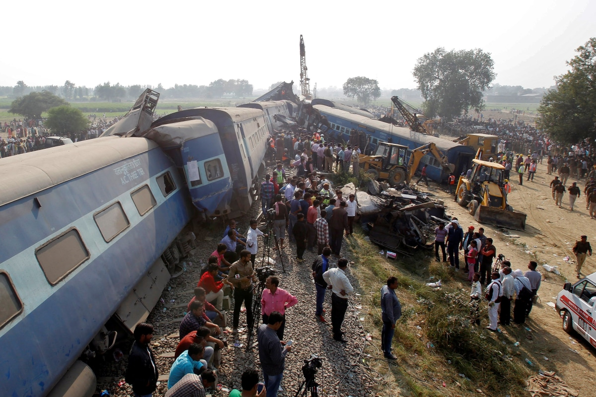 Image result for train accident in india