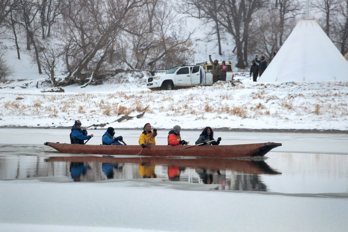 Brutal winter conditions deepen pipeline protesters' resolve