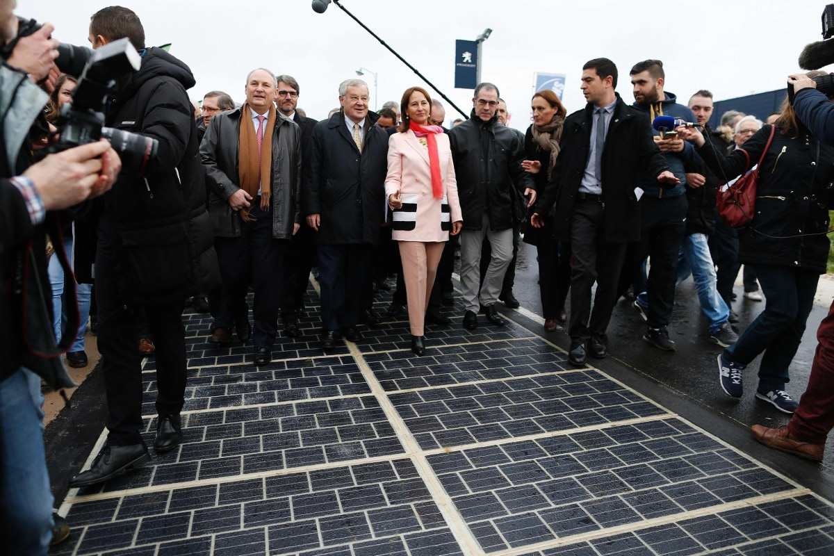 Northwestern Public Health >> World's First Solar Road Opens in Normandy, France - NBC News