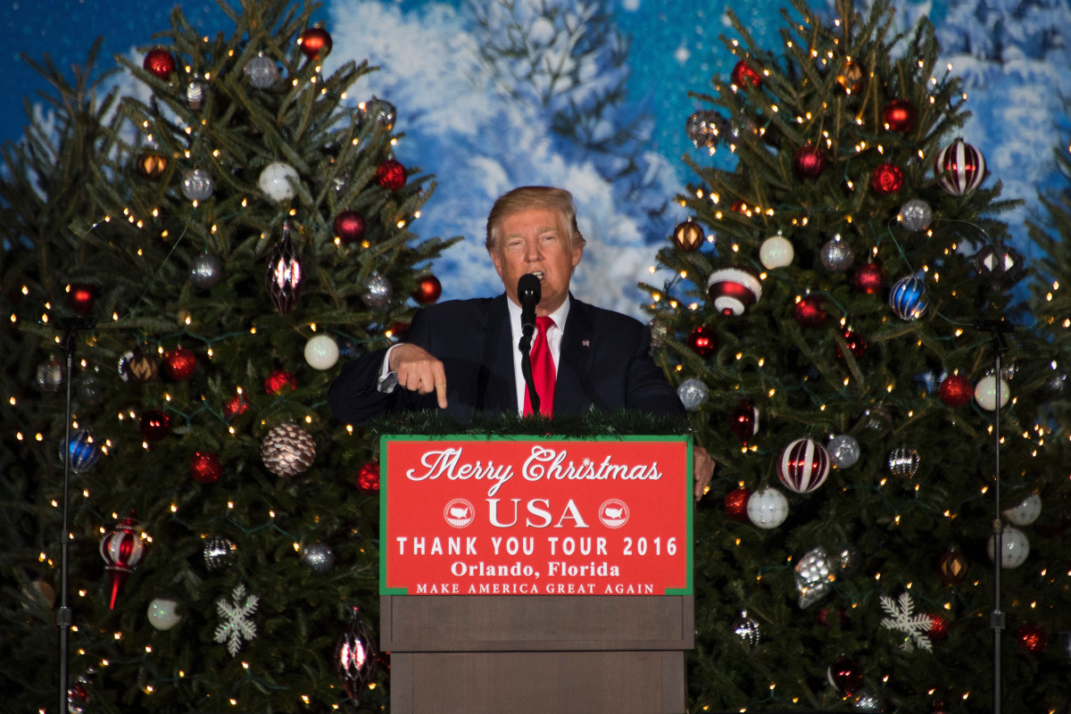 President Trump Gives Speech About Christmas And Birth Of