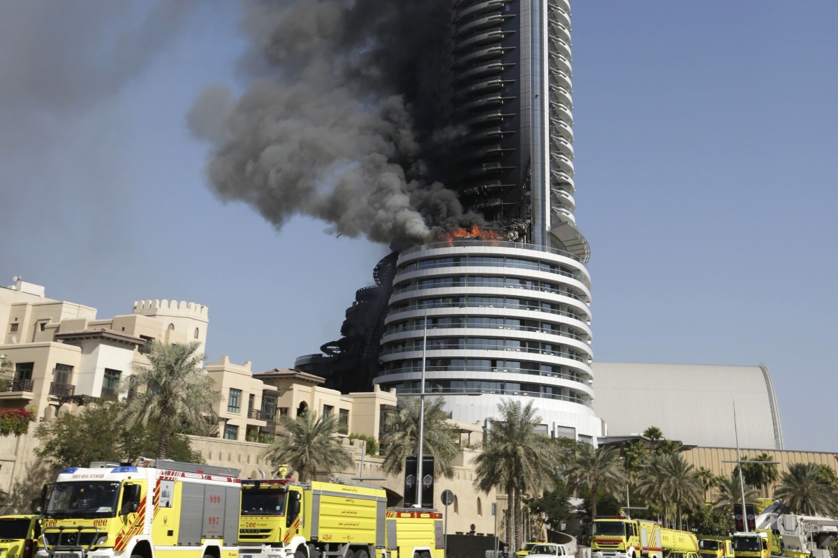 Dubai Investigates Luxury Hotel Skyscraper Fire Near Burj ... Burj Khalifa From Top Floor