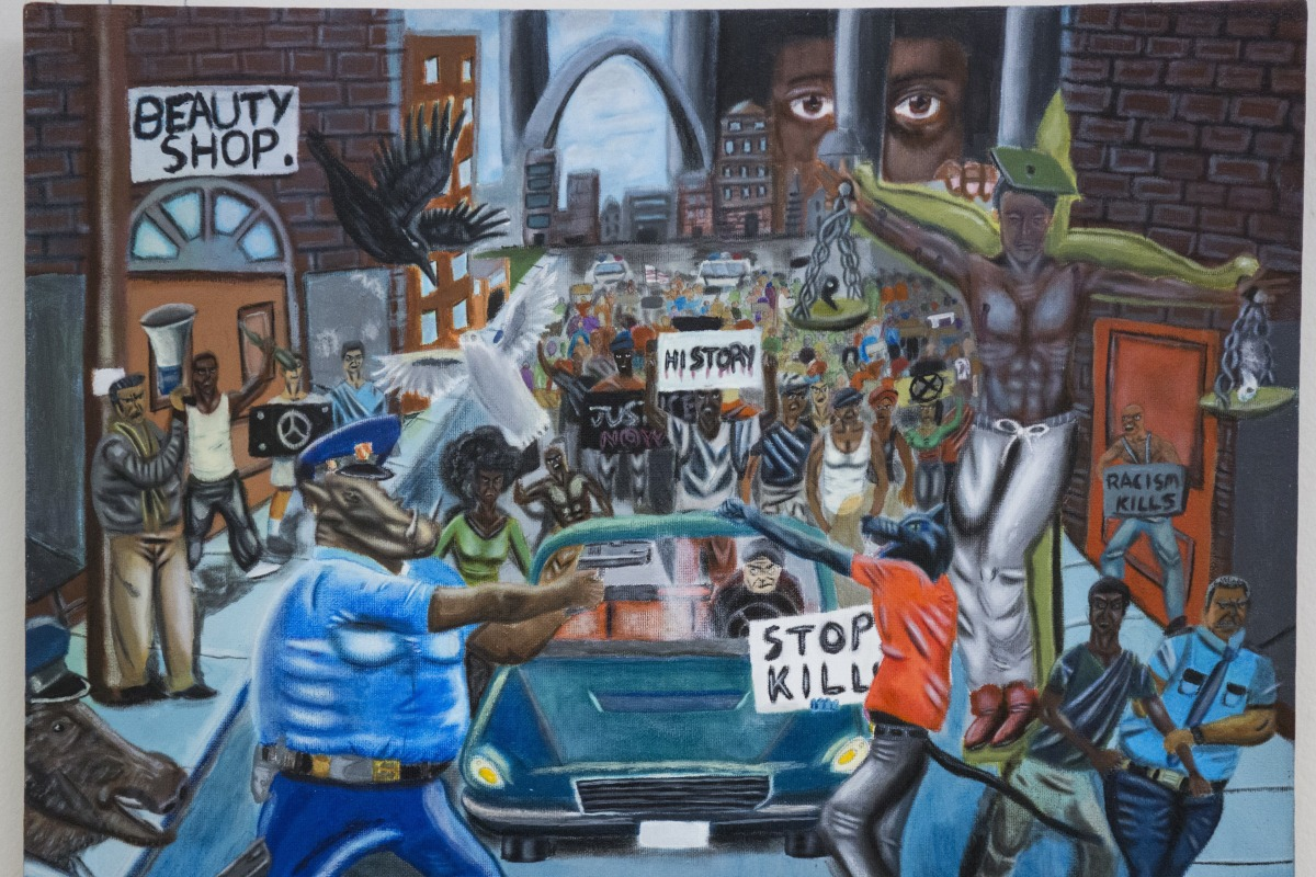 GOP lawmakers keep removing this Ferguson painting