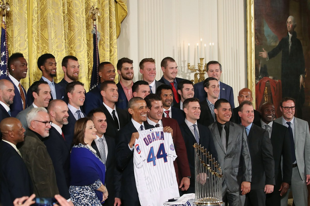 Image result for 2016 world series champion chicago cubs white house