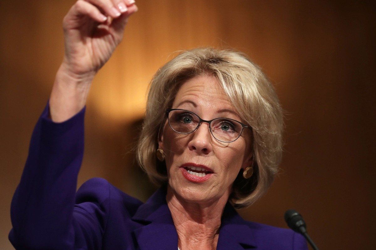 Betsy DeVos says schools might need guns to stop 'potential grizzlies'