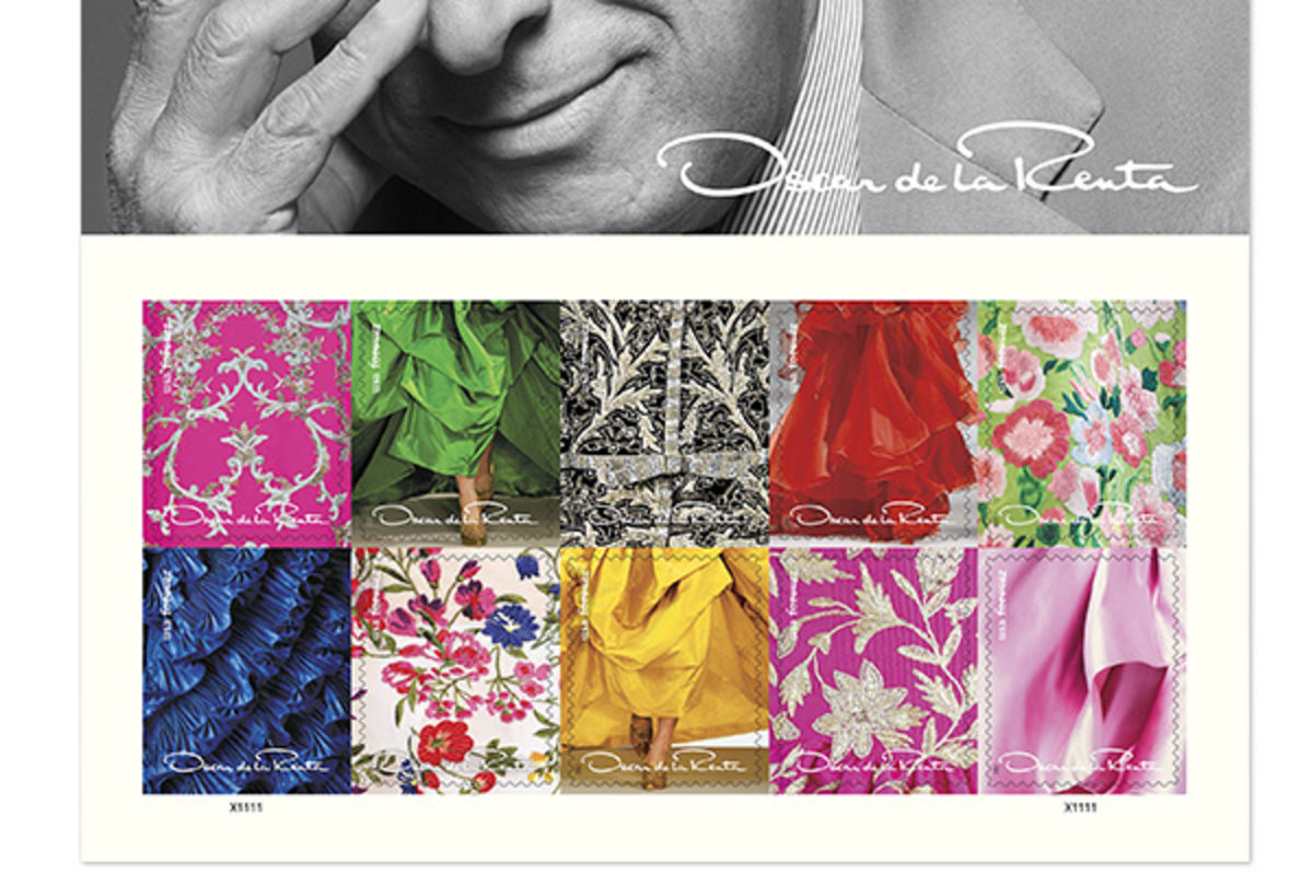 oscar de la renta is honored with postage stamp nbc news. Black Bedroom Furniture Sets. Home Design Ideas