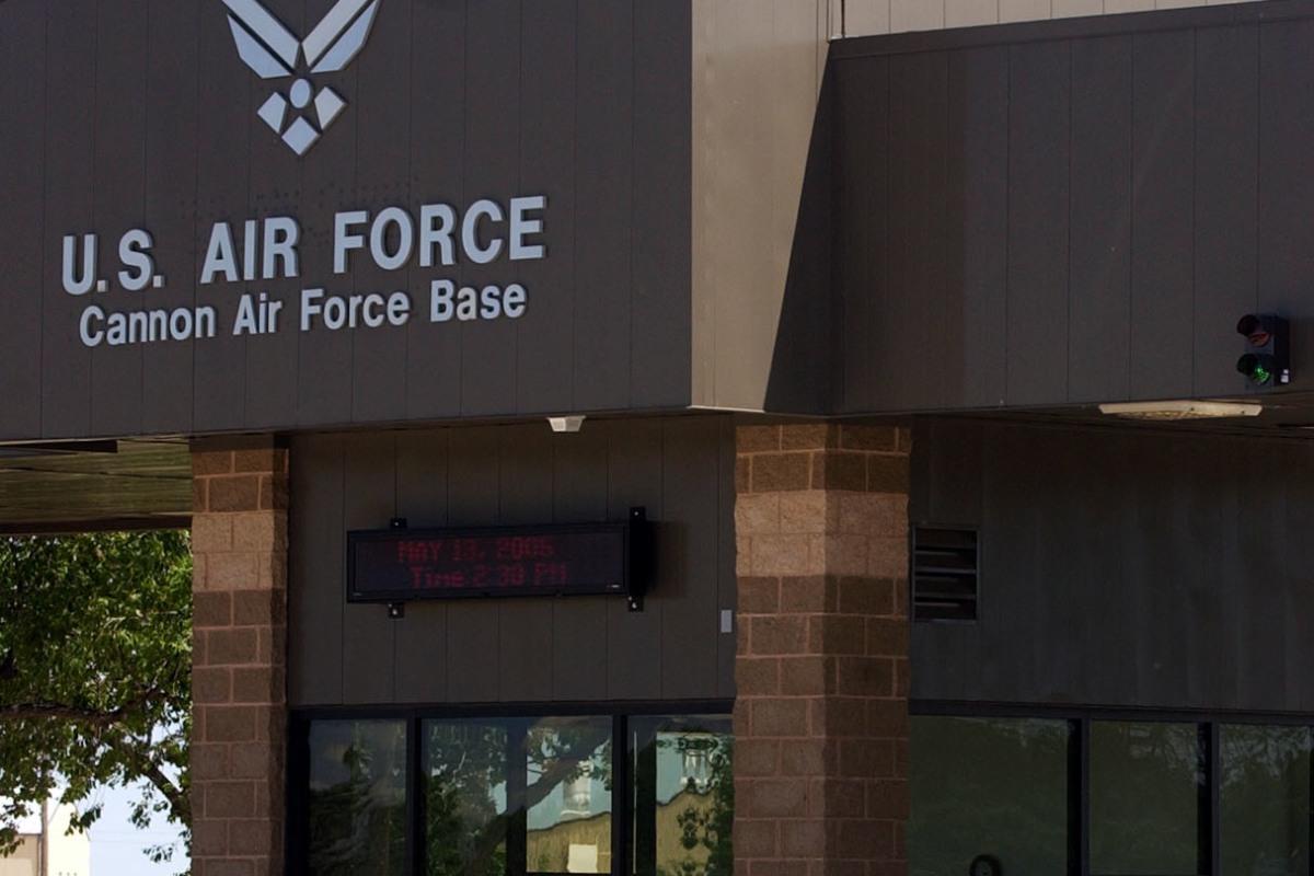 Cannon Air Force Base Clovis, New Mexico vintage postcard
