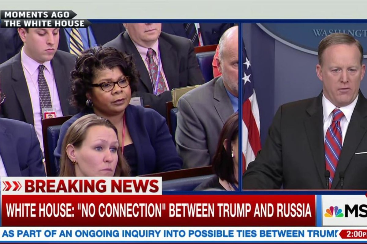 politics news stop shaking your head sean spicer lashes reporter april