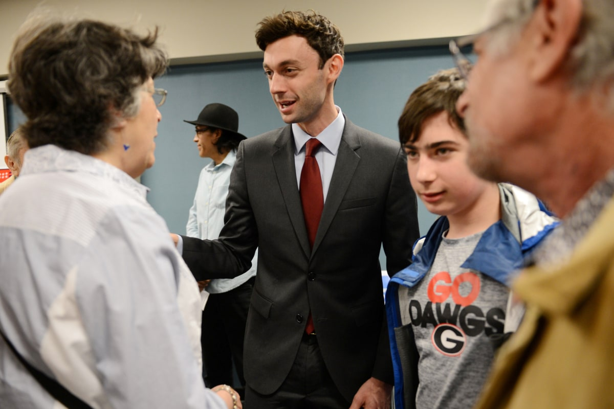 news politics trump tweets about first days georgia special election ossoff more