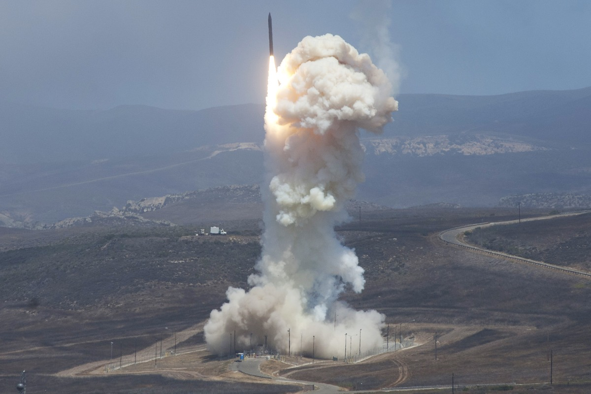 Image result for defense department missile intercept test