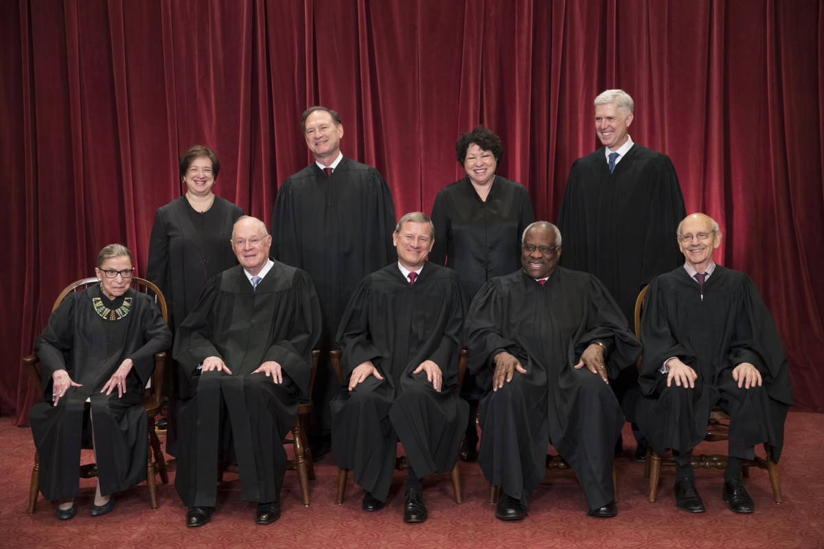 Gorsuch Joins Supreme Court Colleagues for First Formal ...