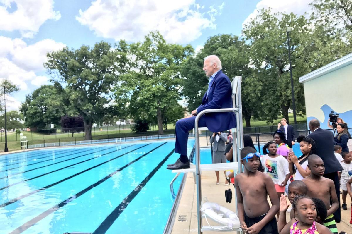 Image: Joe Biden in Delaware lifeguard chair