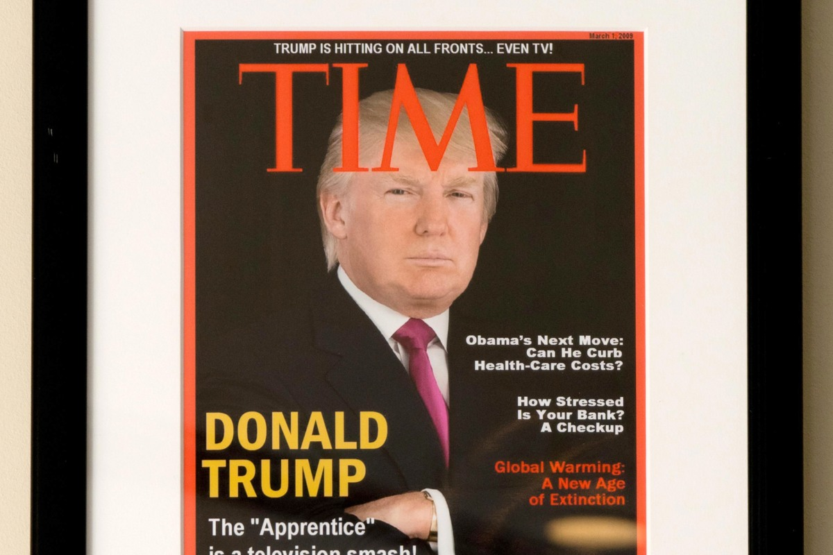 Time asks Trump golf clubs to take down fake magazine cover