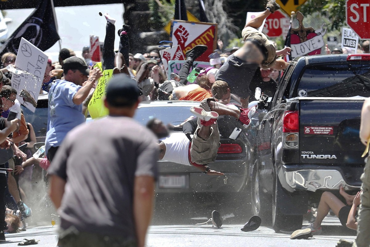 One dead, others hurt after car strikes crowd at Charlottesville rally