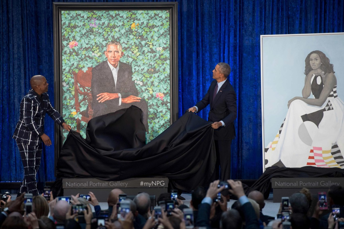 Obamas' portraits unveiled at Smithsonian - VolNation