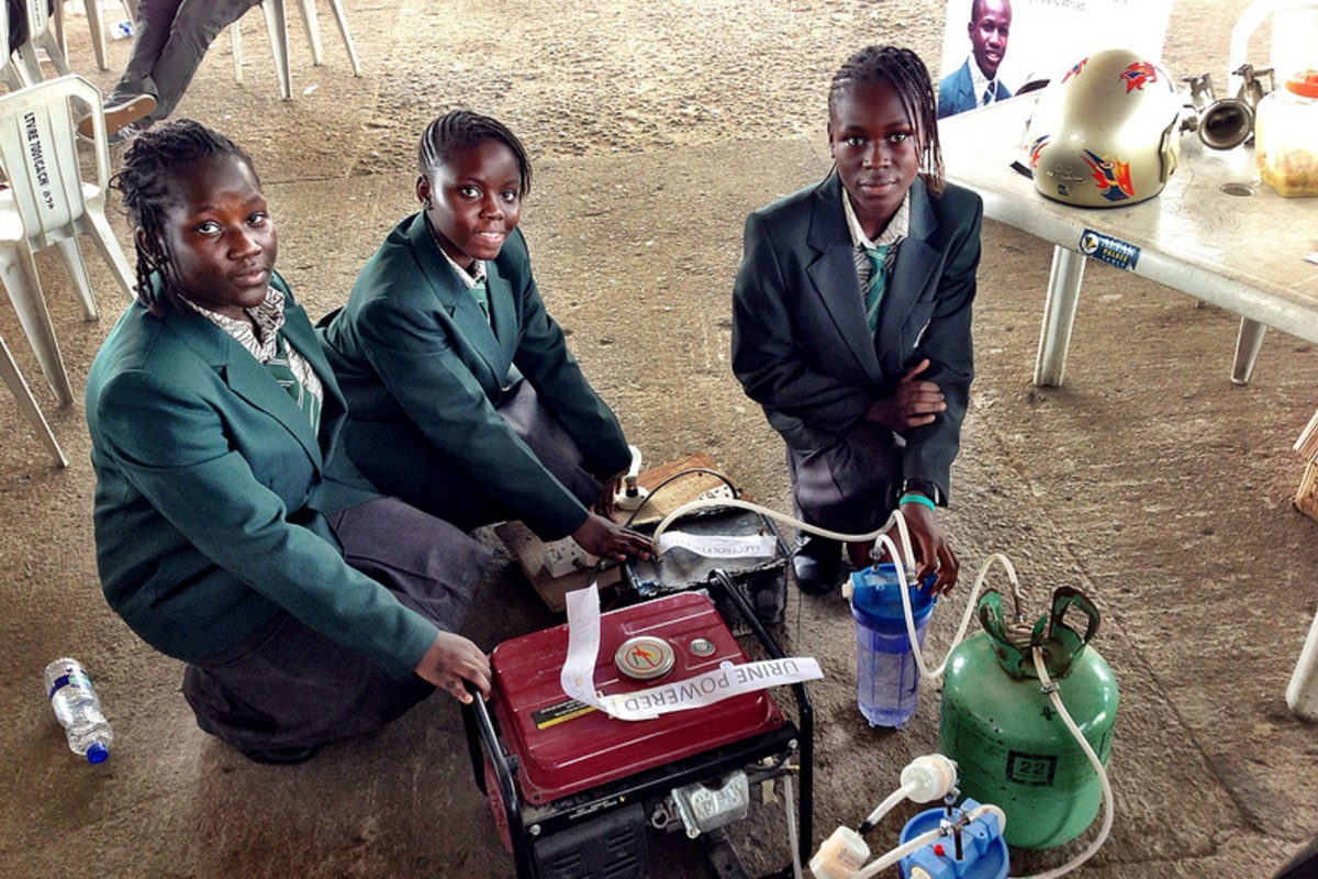 African girls' pee-powered generator raises questions - NBC News
