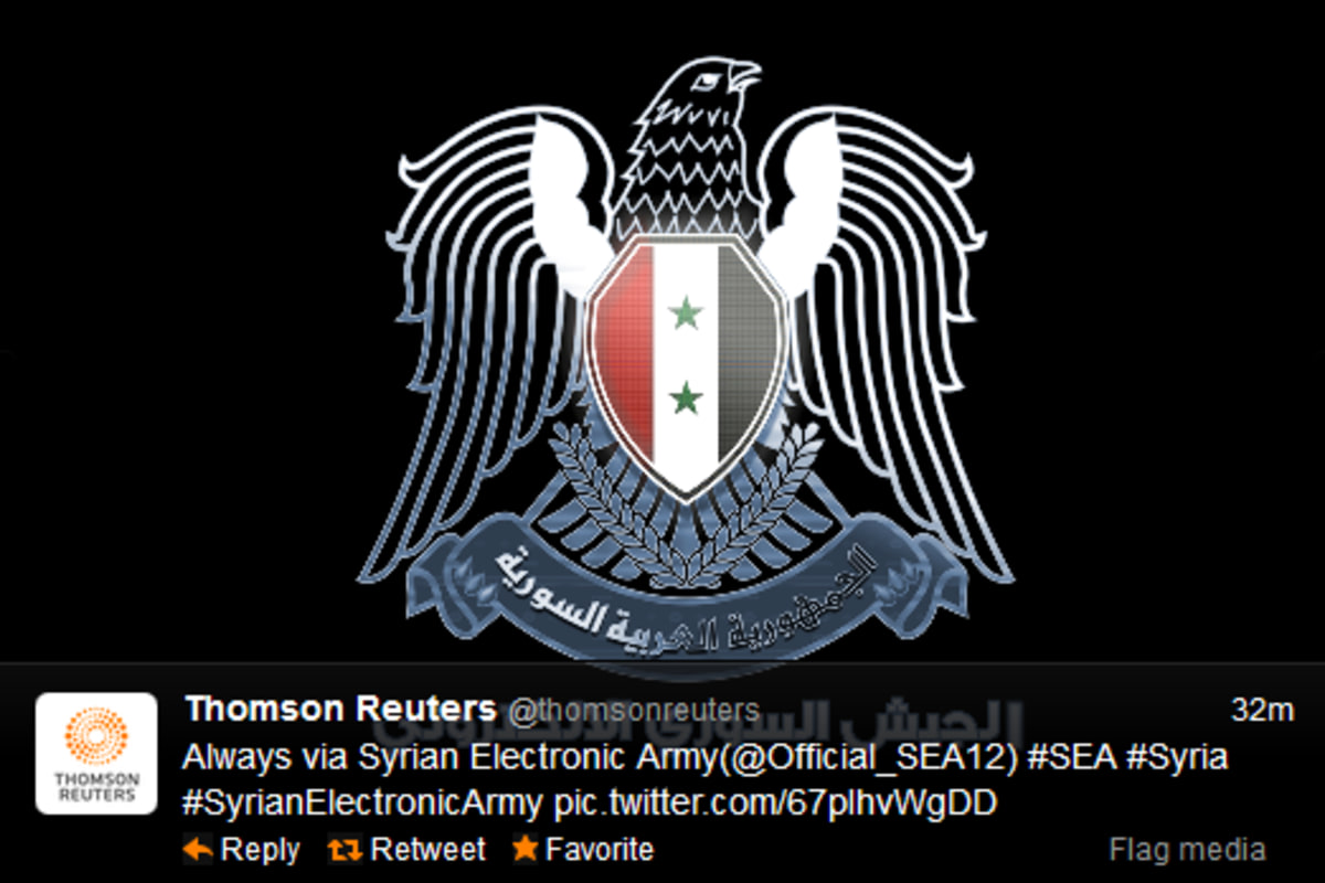 Twitter Account Of Thomson Reuters Hacked By Syrian Activists Nbc News