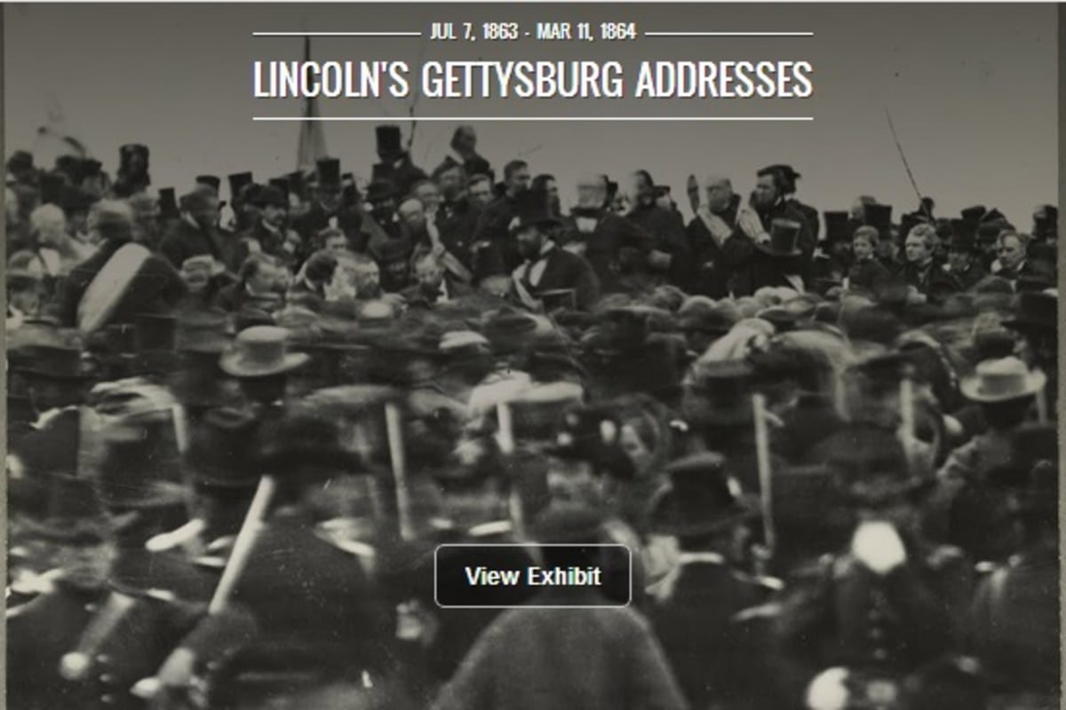 150 Years After Gettysburg Address Google Shows Lincoln S