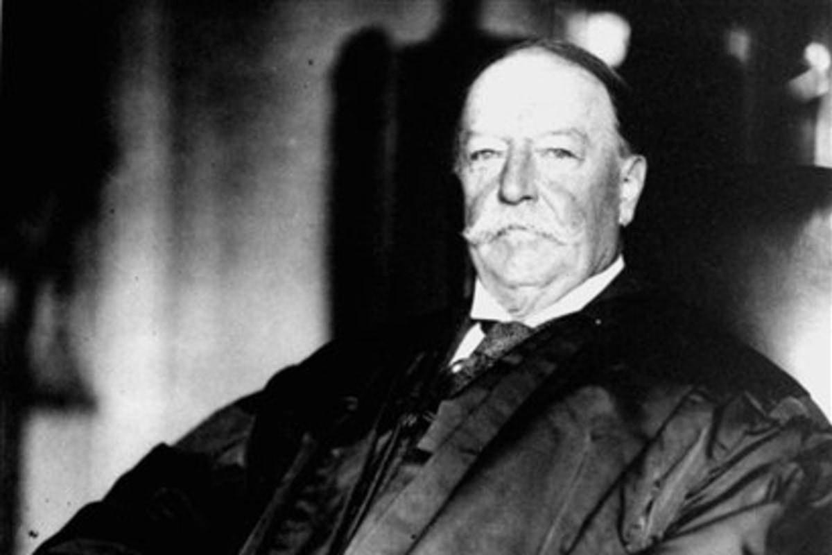 William Taft Weight Portly President Taft threw
