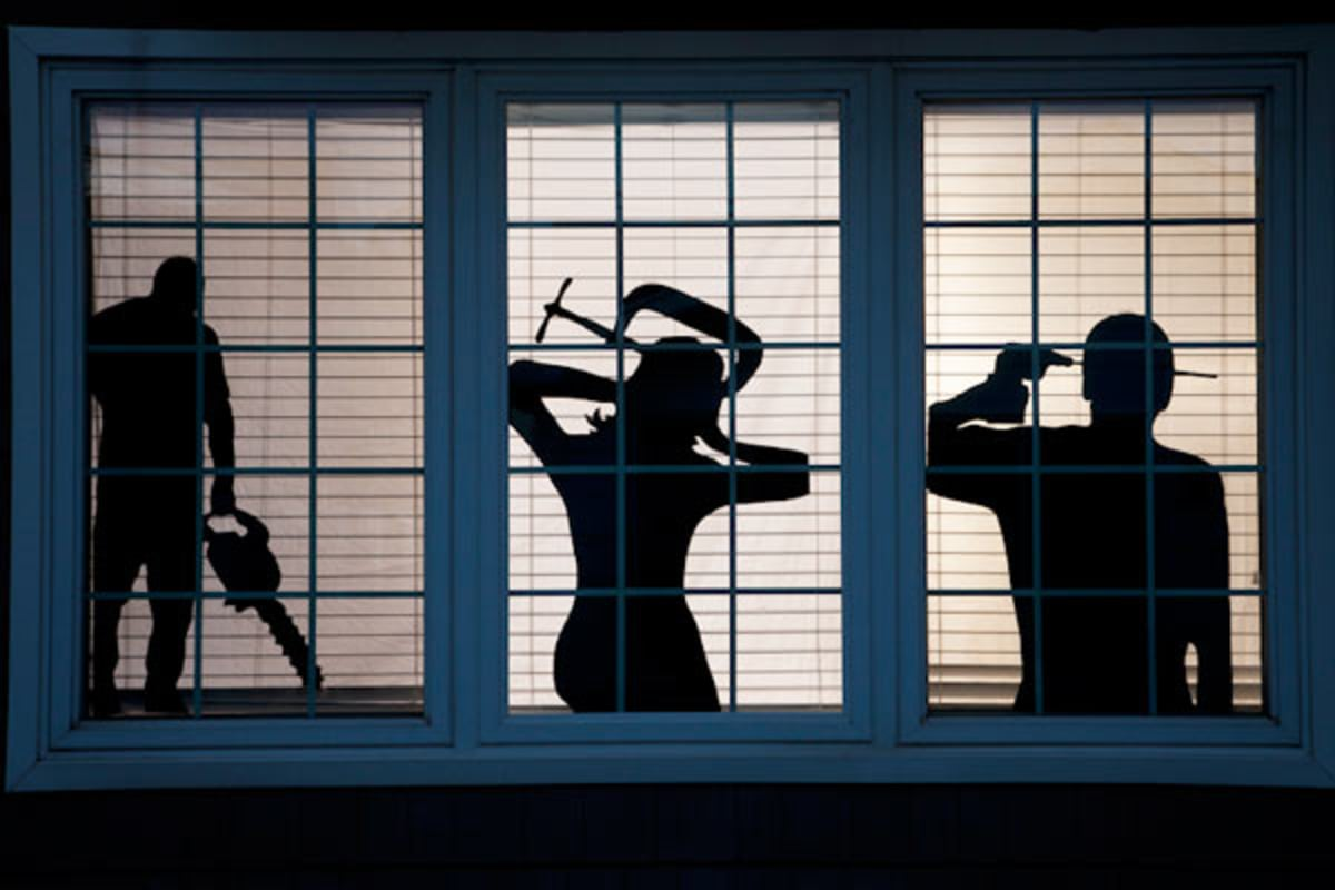 spooky window silhouettes and other diy halloween. Black Bedroom Furniture Sets. Home Design Ideas