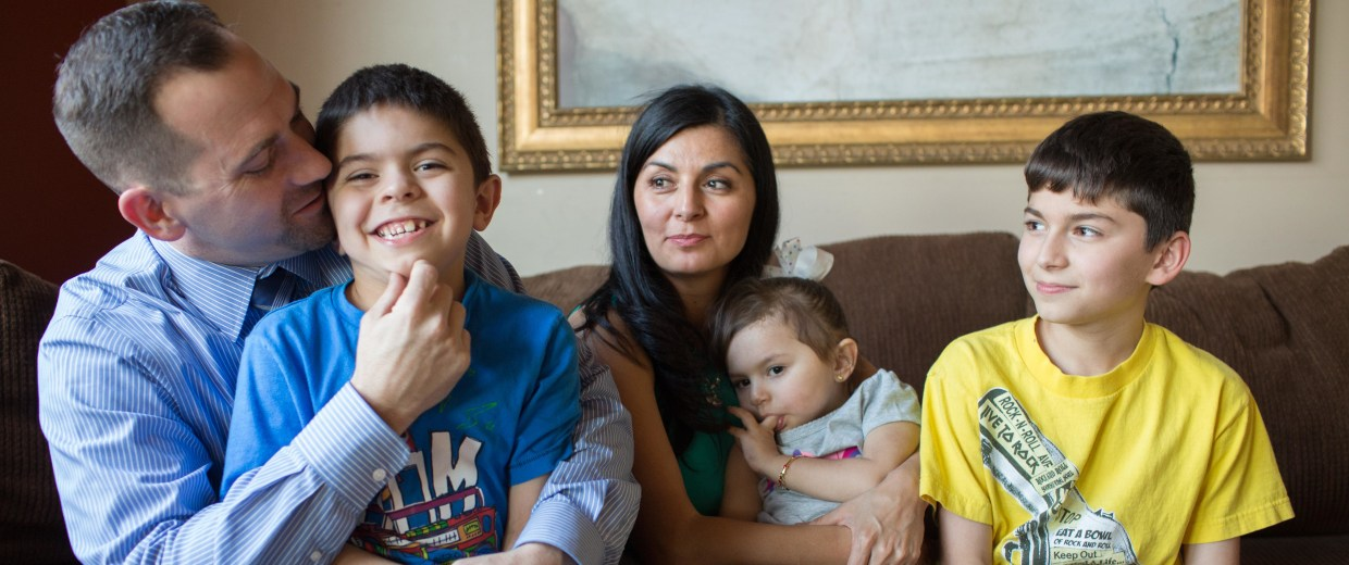 Joseph and Claudia Schulz with their children Victoria, 2, Alexander, 7, and Jas, 10.