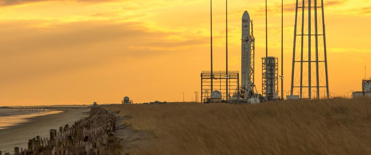 Image: Antares on pad