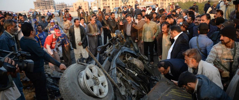 Image: PAKISTAN-UNREST-BLAST