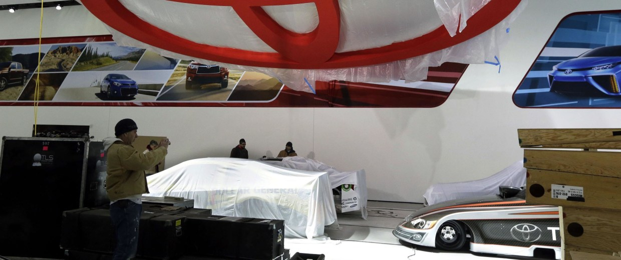 Image: Toyota area at North American International Auto Show in Detroit