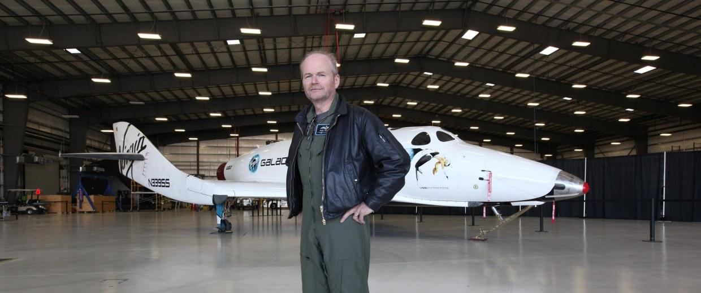 Image:  Virgin Galactic's Chief Pilot Dave Mackay