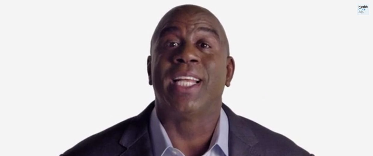 Magic Johnson in a video for HealthCare.gov