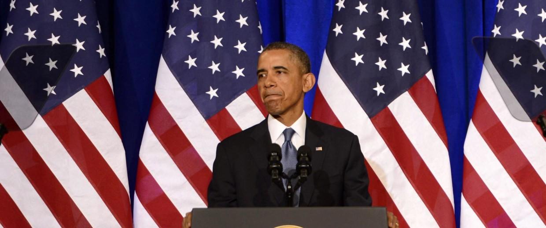 Image: US President Barack Obama delivers remarks on the signals intelligence program.