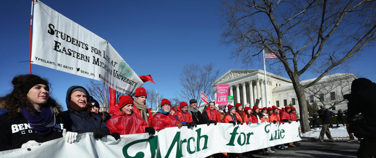 Image: Annual March For Life Winds Through Washington DC