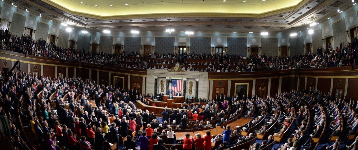 Image: TOPSHOTS-US-POLITICS-STATE OF THE UNION-OBAMA